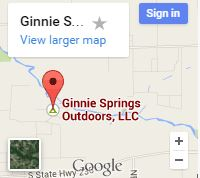 Ginnie Springs - Map Image