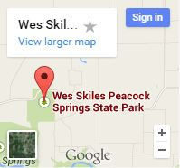 Peacock Springs - Map Images