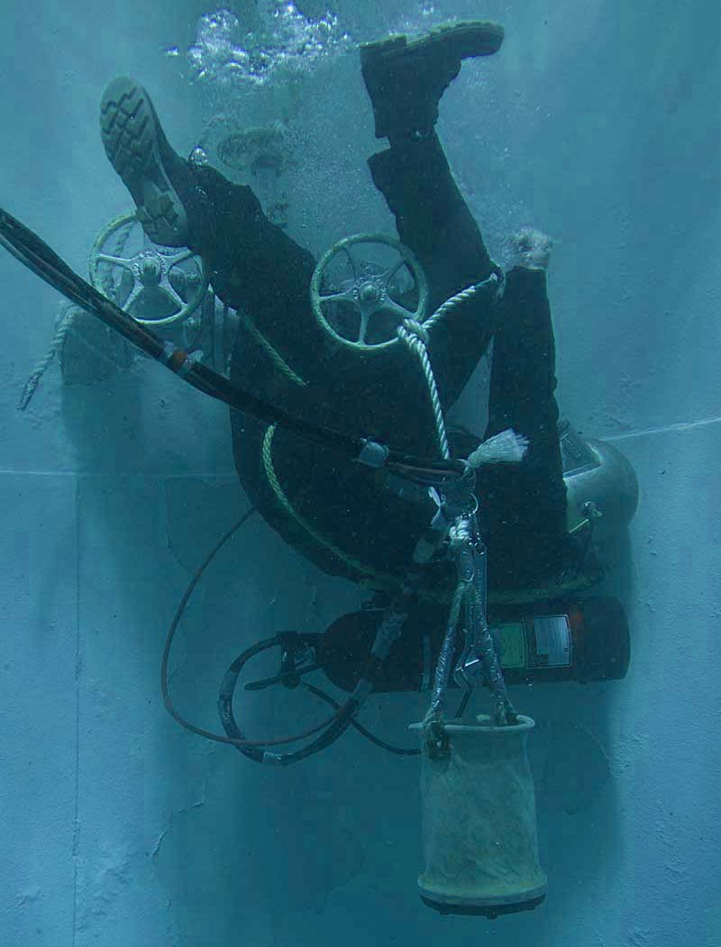 In the dive tank at CDA Technical Institute