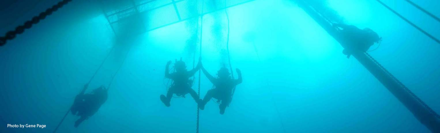 Dive training at CDA Technical Institute's 40 Fathom Grotto