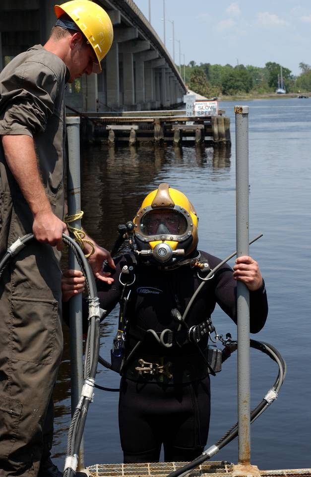 Dark water diving at CDA Technical Institute